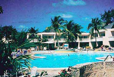 View of the Sam Lord's Castle Resort of Barbados